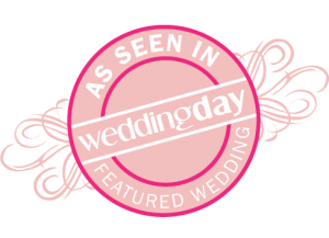 As Seen in Wedding Day magazine Featured Wedding logo