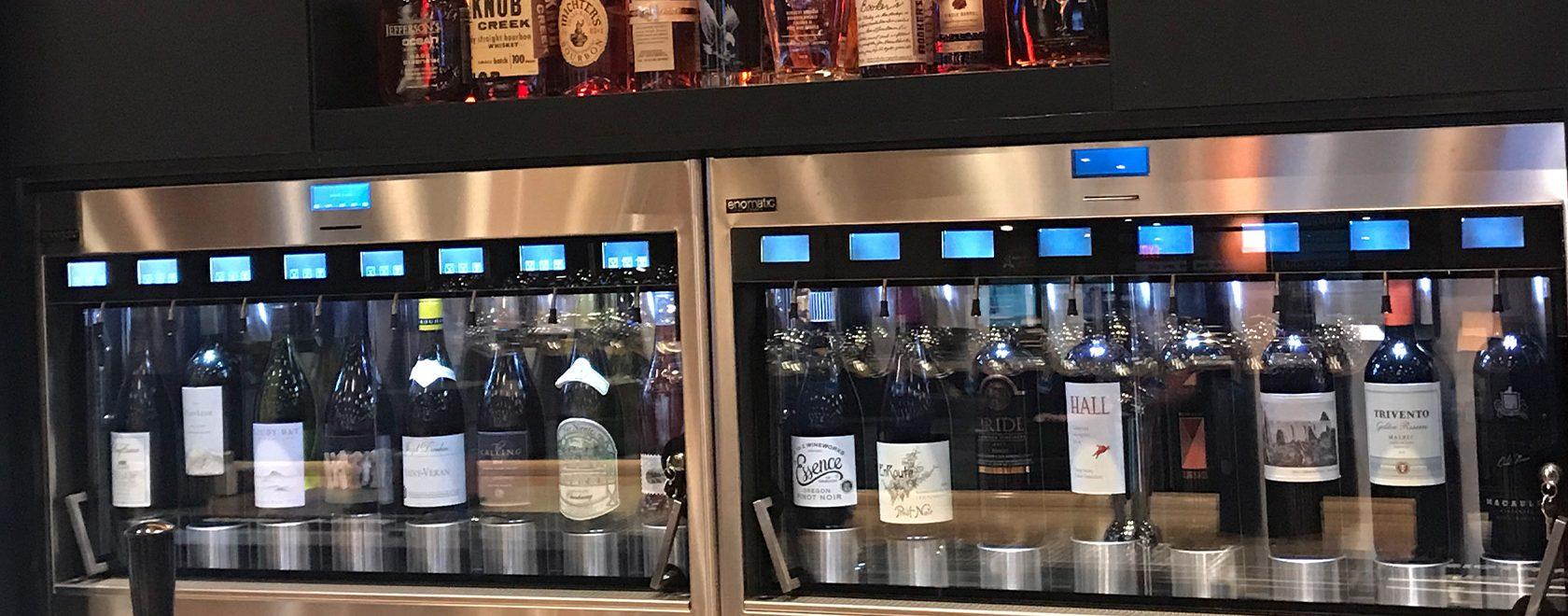 Wine bottles in Enoline Wine system