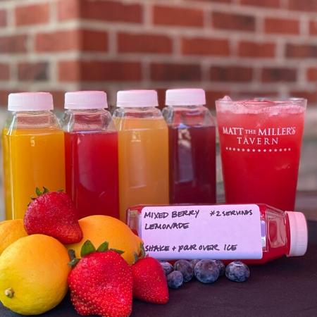 togo drinks bottled next to fruit