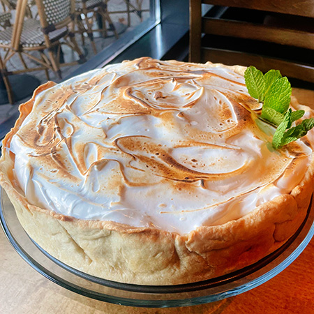 """Deep Dish Baked """"Indiana"""" - a riff on Baked Alaska made with Paw Paw ice cream"""